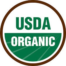 USDA Organic: The products' ingredients have been produced according to rules set by the USDA Organic Program, as well as certified by a third-party organization approved by the USDA.